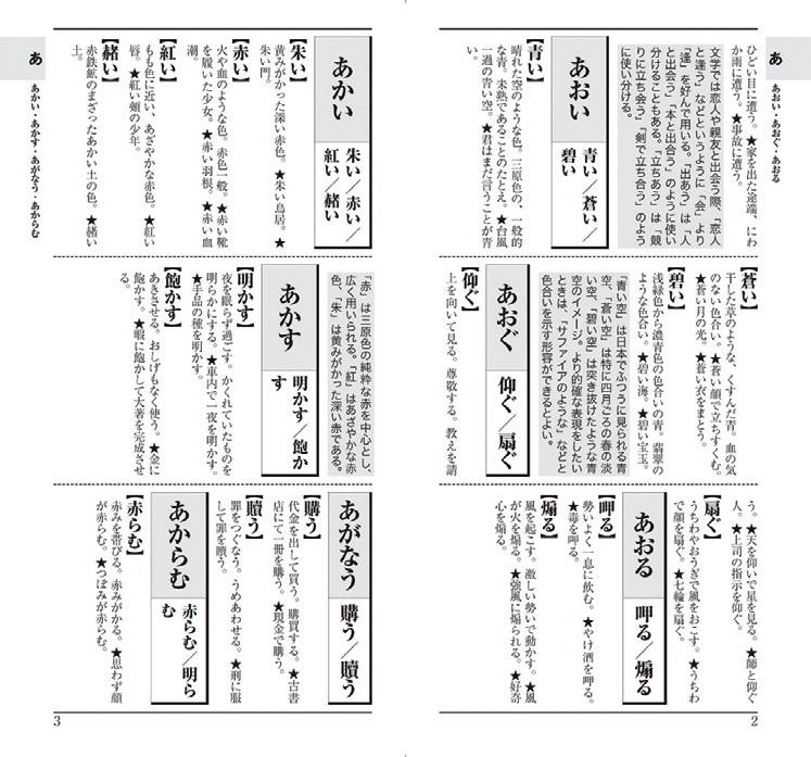 『漢字の使い分け辞典』本文紙面